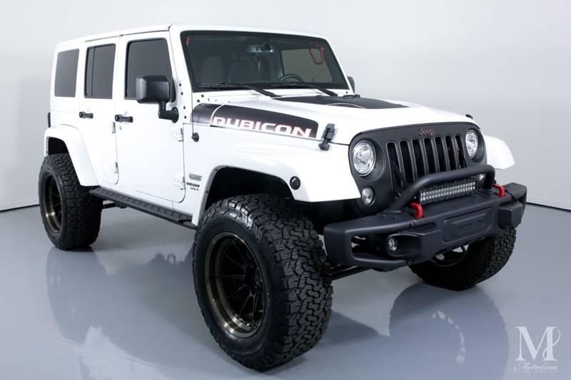 Used 2017 Jeep Wrangler Unlimited Rubicon Recon 4x4 4dr Suv For Sale 37 996 Metrolina Auto Group Stock 6658x
