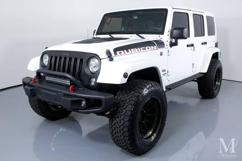 Used 2017 Jeep Wrangler Unlimited Rubicon Recon 4x4 4dr SUV for sale Sold at Metrolina Auto Group in Charlotte NC 28217 - 4