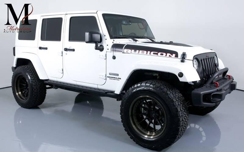 Used 2017 Jeep Wrangler Unlimited Rubicon Recon 4x4 4dr SUV for sale Sold at Metrolina Auto Group in Charlotte NC 28217 - 1