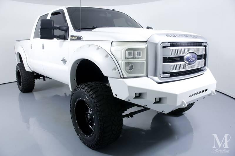 Used 2015 Ford F-250 Super Duty Platinum 4x4 4dr Crew Cab 8 ft. LB Pickup for sale Sold at Metrolina Auto Group in Charlotte NC 28217 - 2