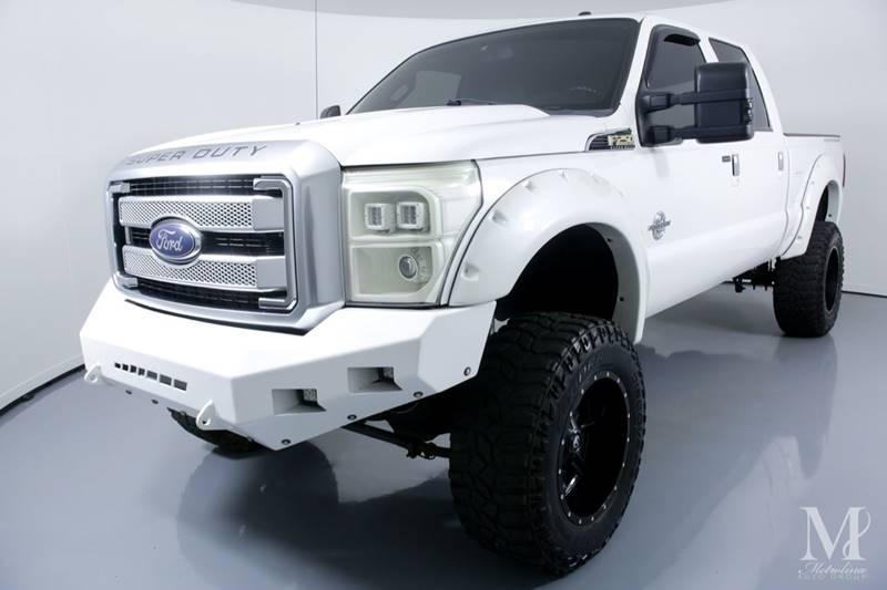 Used 2015 Ford F-250 Super Duty Platinum 4x4 4dr Crew Cab 8 ft. LB Pickup for sale Sold at Metrolina Auto Group in Charlotte NC 28217 - 4