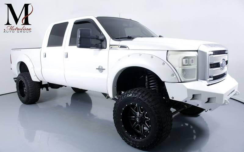 Used 2015 Ford F-250 Super Duty Platinum 4x4 4dr Crew Cab 8 ft. LB Pickup for sale Sold at Metrolina Auto Group in Charlotte NC 28217 - 1