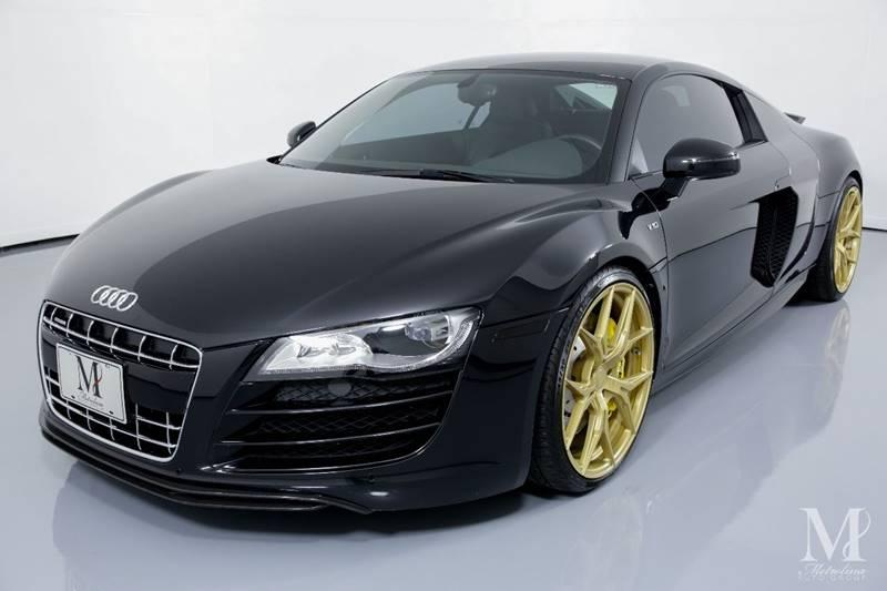 Used 2010 Audi R8 5.2 quattro AWD 2dr Coupe 6A for sale Sold at Metrolina Auto Group in Charlotte NC 28217 - 4