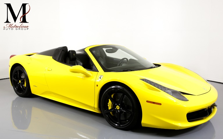 Used Used 2015 Ferrari 458 Spider Base 2dr Convertible for sale $164,996 at Metrolina Auto Group in Charlotte NC