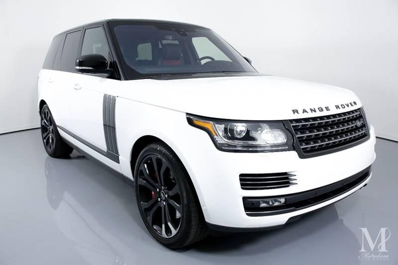 Used 2017 Land Rover Range Rover SVAutobiography Dynamic AWD 4dr SUV for sale Sold at Metrolina Auto Group in Charlotte NC 28217 - 2
