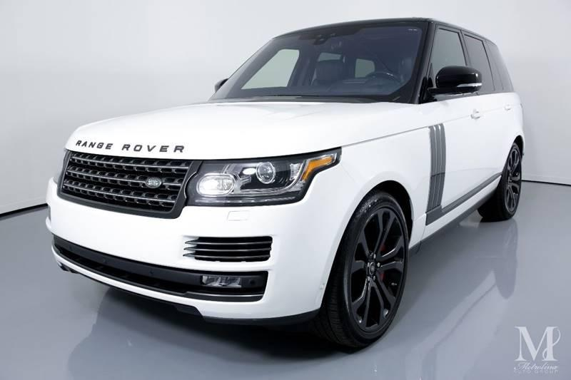 Used 2017 Land Rover Range Rover SVAutobiography Dynamic AWD 4dr SUV for sale Sold at Metrolina Auto Group in Charlotte NC 28217 - 4