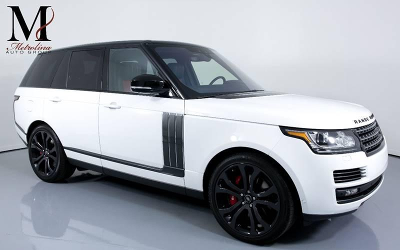 Used 2017 Land Rover Range Rover SVAutobiography Dynamic AWD 4dr SUV for sale Sold at Metrolina Auto Group in Charlotte NC 28217 - 1