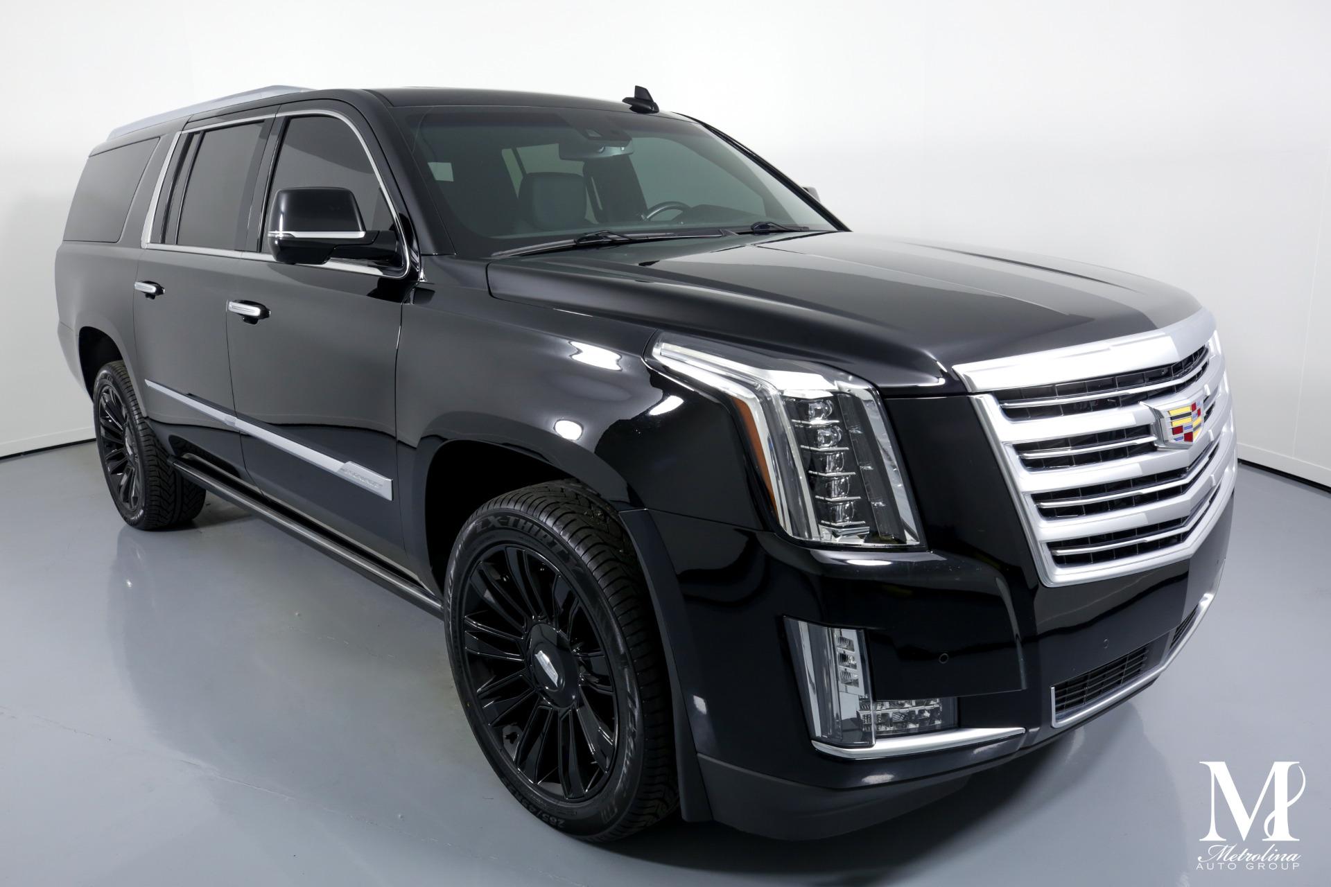 Used 2016 Cadillac Escalade ESV Platinum for sale $54,996 at Metrolina Auto Group in Charlotte NC 28217 - 2