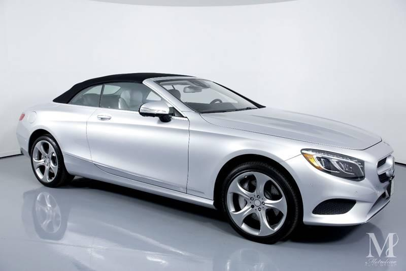 Used 2017 Mercedes-Benz S-Class S 550 2dr Convertible for sale Sold at Metrolina Auto Group in Charlotte NC 28217 - 2