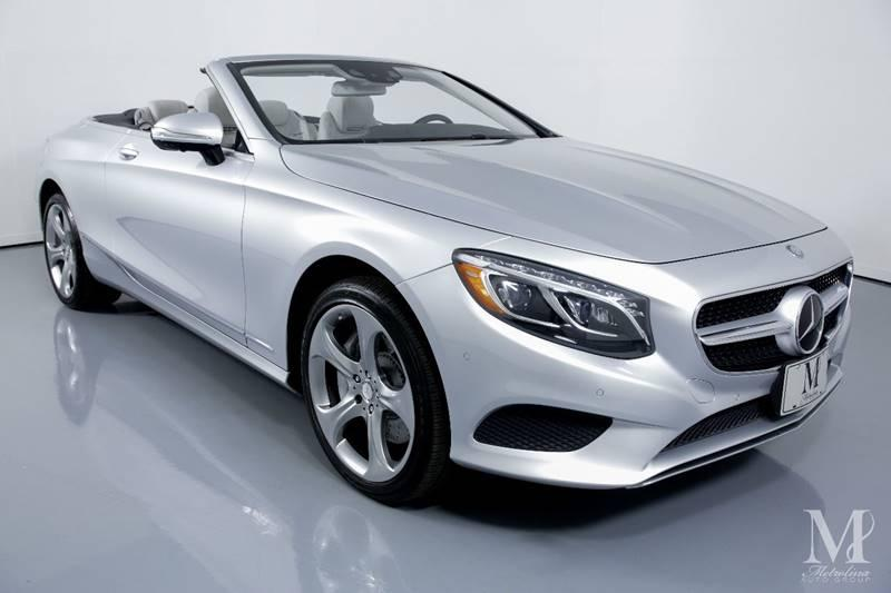 Used 2017 Mercedes-Benz S-Class S 550 2dr Convertible for sale Sold at Metrolina Auto Group in Charlotte NC 28217 - 3
