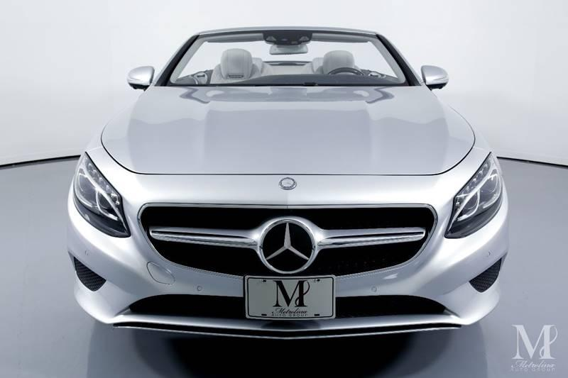 Used 2017 Mercedes-Benz S-Class S 550 2dr Convertible for sale Sold at Metrolina Auto Group in Charlotte NC 28217 - 4