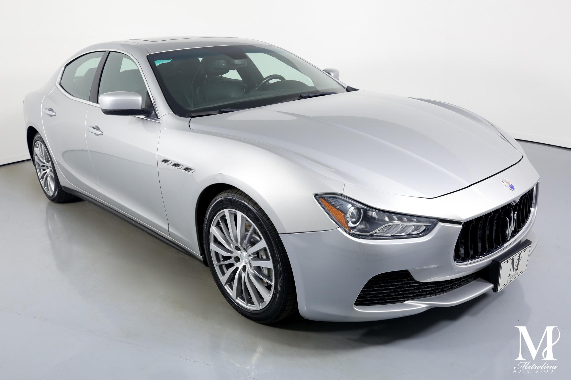 Used 2014 Maserati Ghibli for sale $25,996 at Metrolina Auto Group in Charlotte NC 28217 - 2