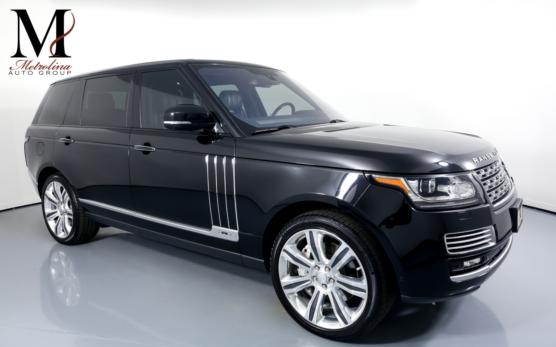 Used 2015 Land Rover Range Rover Autobiography Black LWB for sale $74,996 at Metrolina Auto Group in Charlotte NC 28217 - 1