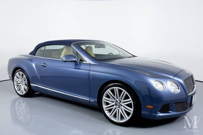 Used 2014 Bentley Continental GT Speed AWD 2dr Convertible for sale Sold at Metrolina Auto Group in Charlotte NC 28217 - 2
