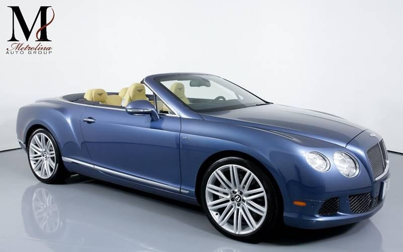 Used 2014 Bentley Continental GT Speed AWD 2dr Convertible for sale Sold at Metrolina Auto Group in Charlotte NC 28217 - 1