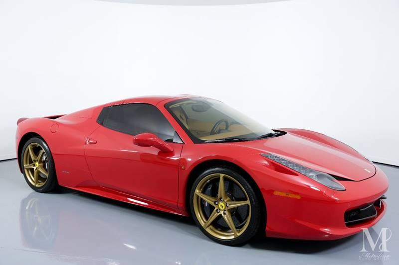 Used 2015 Ferrari 458 Spider Base 2dr Convertible for sale Sold at Metrolina Auto Group in Charlotte NC 28217 - 2