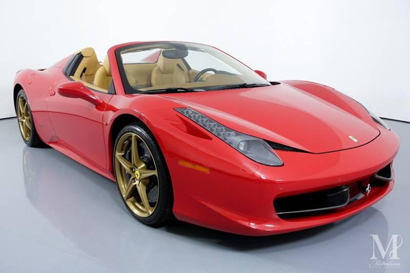 Used 2015 Ferrari 458 Spider Base 2dr Convertible for sale Sold at Metrolina Auto Group in Charlotte NC 28217 - 3