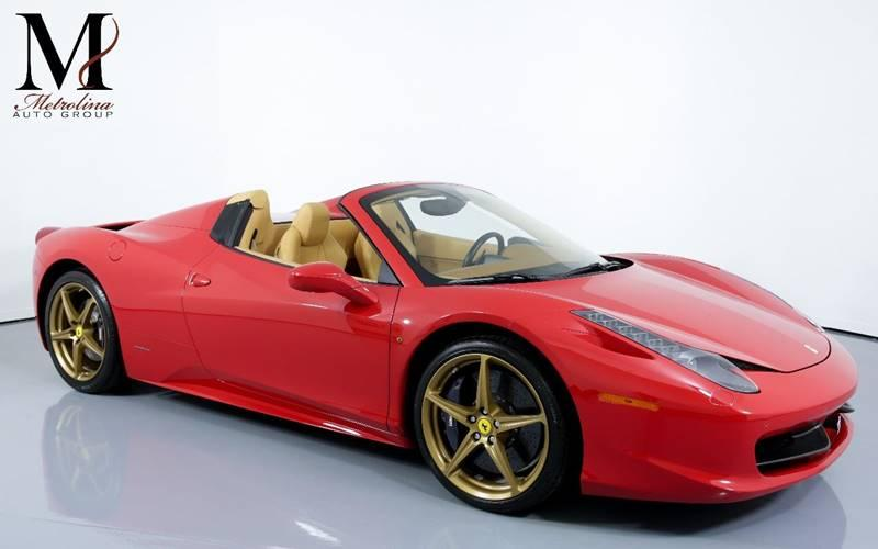 Used 2015 Ferrari 458 Spider Base 2dr Convertible for sale Sold at Metrolina Auto Group in Charlotte NC 28217 - 1
