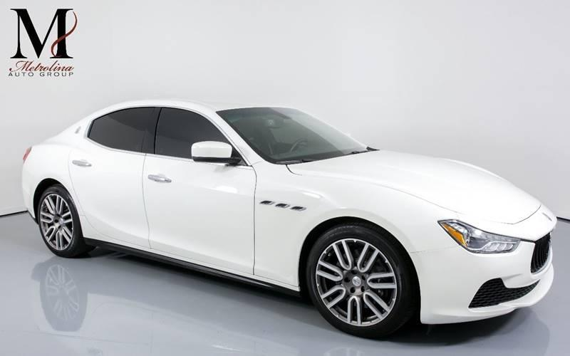 Used 2015 Maserati Ghibli Base 4dr Sedan for sale Sold at Metrolina Auto Group in Charlotte NC 28217 - 1