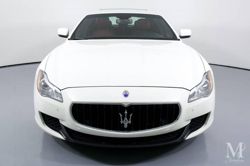 Used 2015 Maserati Quattroporte S Q4 AWD 4dr Sedan for sale Sold at Metrolina Auto Group in Charlotte NC 28217 - 3