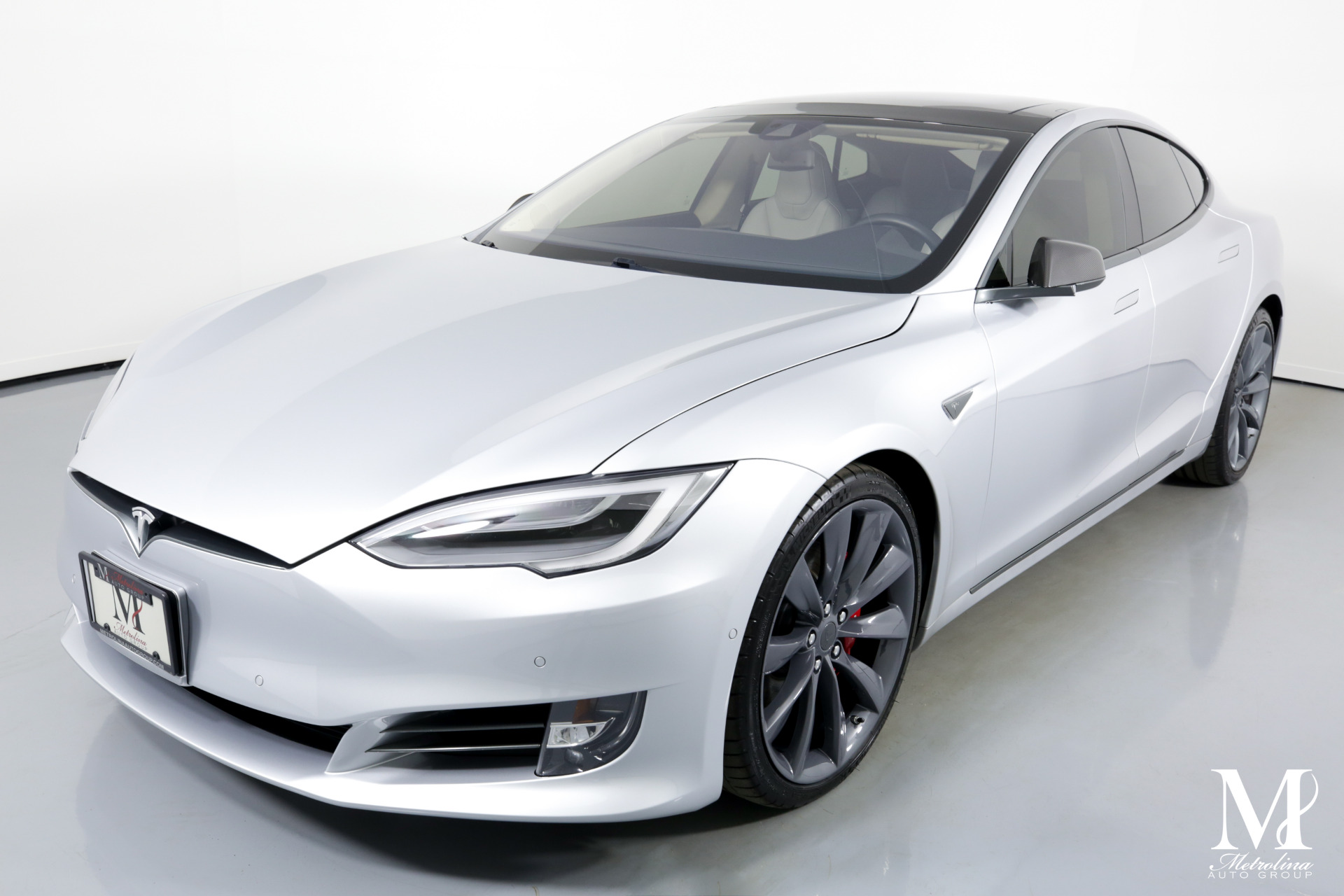 Used 2016 Tesla Model S P90D AWD 4dr Liftback (midyear release) for sale $71,456 at Metrolina Auto Group in Charlotte NC 28217 - 4