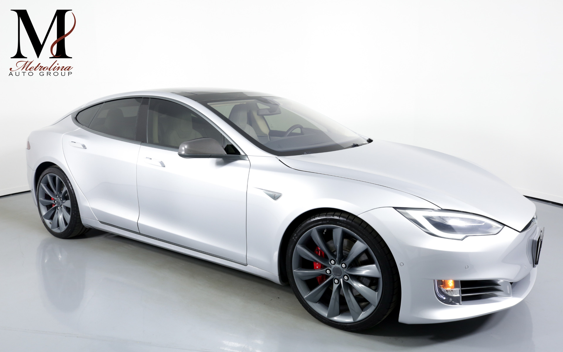 Used 2016 Tesla Model S P90D AWD 4dr Liftback (midyear release) for sale $71,456 at Metrolina Auto Group in Charlotte NC 28217 - 1