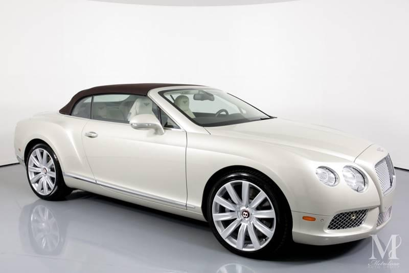 Used 2013 Bentley Continental GT V8 AWD 2dr Convertible for sale Sold at Metrolina Auto Group in Charlotte NC 28217 - 2