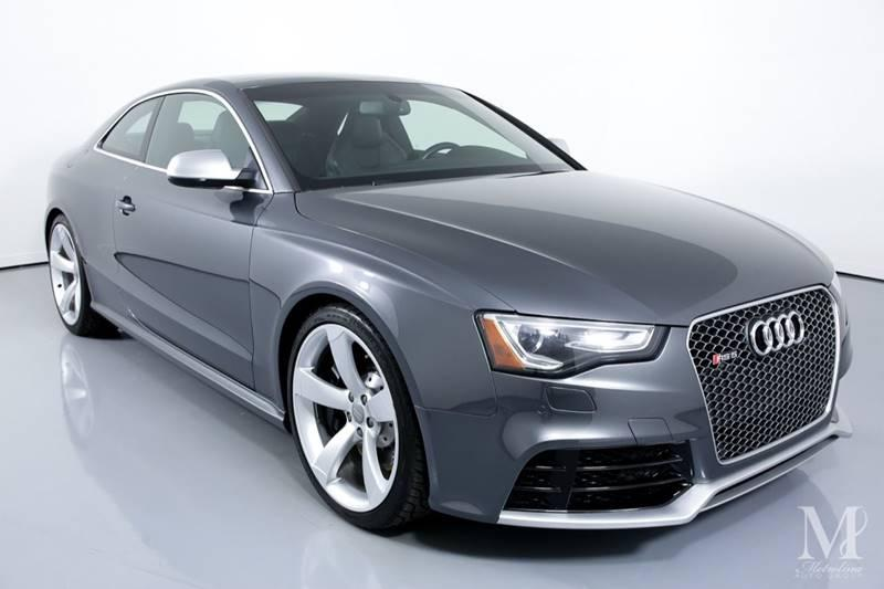 Used 2015 Audi RS 5 4.2 quattro AWD 2dr Coupe for sale Sold at Metrolina Auto Group in Charlotte NC 28217 - 2