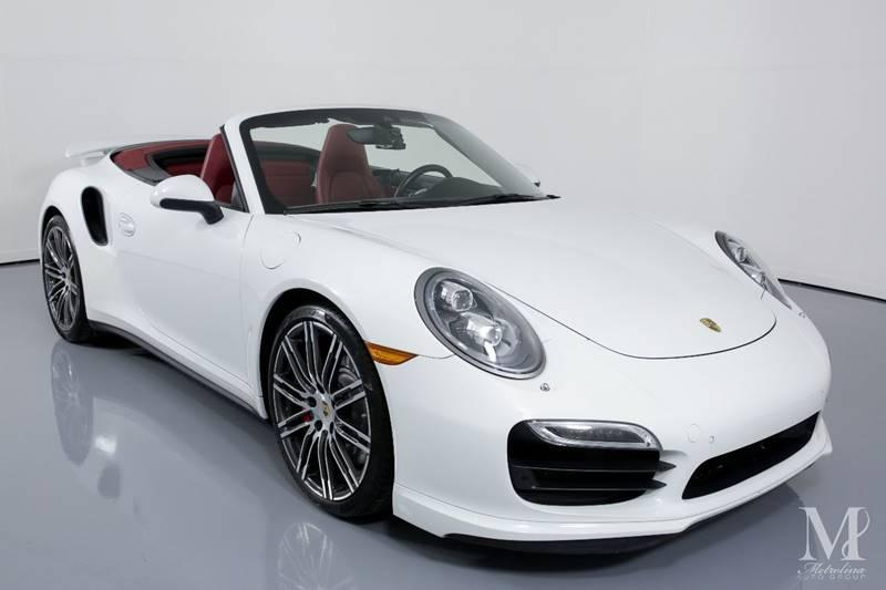 Used 2015 Porsche 911 Turbo AWD 2dr Convertible for sale Sold at Metrolina Auto Group in Charlotte NC 28217 - 3