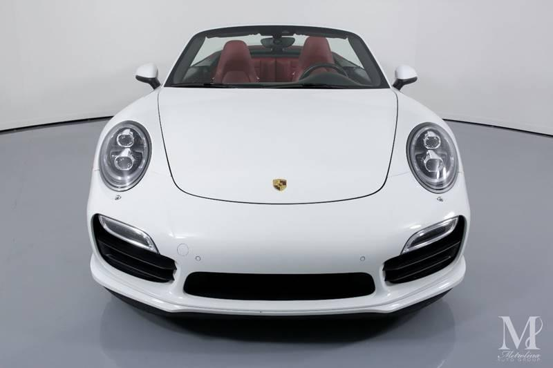 Used 2015 Porsche 911 Turbo AWD 2dr Convertible for sale Sold at Metrolina Auto Group in Charlotte NC 28217 - 4