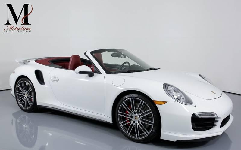 Used 2015 Porsche 911 Turbo AWD 2dr Convertible for sale Sold at Metrolina Auto Group in Charlotte NC 28217 - 1