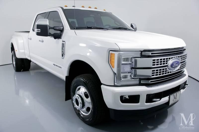 Used 2018 Ford F-350 Super Duty Platinum 4x4 4dr Crew Cab 8 ft. LB DRW Pickup for sale Sold at Metrolina Auto Group in Charlotte NC 28217 - 2