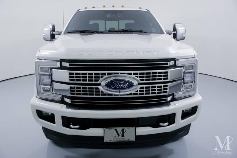 Used 2018 Ford F-350 Super Duty Platinum 4x4 4dr Crew Cab 8 ft. LB DRW Pickup for sale Sold at Metrolina Auto Group in Charlotte NC 28217 - 3