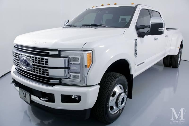 Used 2018 Ford F-350 Super Duty Platinum 4x4 4dr Crew Cab 8 ft. LB DRW Pickup for sale Sold at Metrolina Auto Group in Charlotte NC 28217 - 4