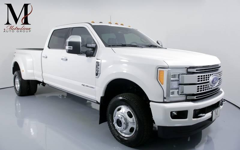 Used 2018 Ford F-350 Super Duty Platinum 4x4 4dr Crew Cab 8 ft. LB DRW Pickup for sale Sold at Metrolina Auto Group in Charlotte NC 28217 - 1