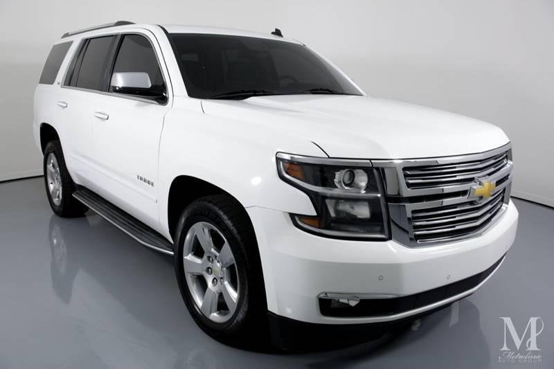Used 2015 Chevrolet Tahoe LTZ 4x2 4dr SUV for sale Sold at Metrolina Auto Group in Charlotte NC 28217 - 2