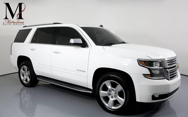 Used 2015 Chevrolet Tahoe LTZ 4x2 4dr SUV for sale Sold at Metrolina Auto Group in Charlotte NC 28217 - 1