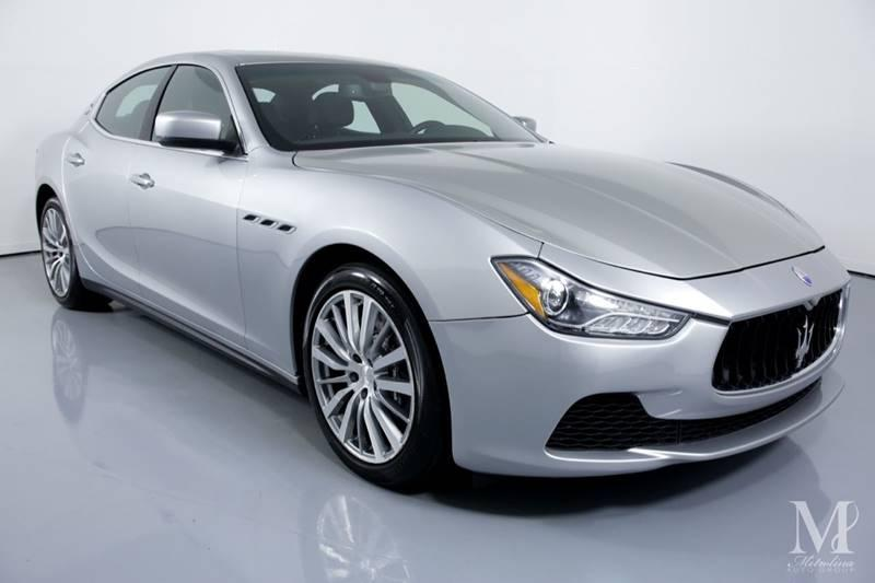 Used 2015 Maserati Ghibli S Q4 AWD 4dr Sedan for sale Sold at Metrolina Auto Group in Charlotte NC 28217 - 2