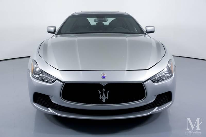 Used 2015 Maserati Ghibli S Q4 AWD 4dr Sedan for sale Sold at Metrolina Auto Group in Charlotte NC 28217 - 3