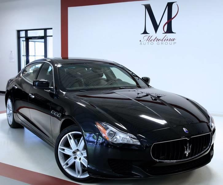 Used 2015 Maserati Quattroporte S Q4 AWD 4dr Sedan for sale Sold at Metrolina Auto Group in Charlotte NC 28217 - 2