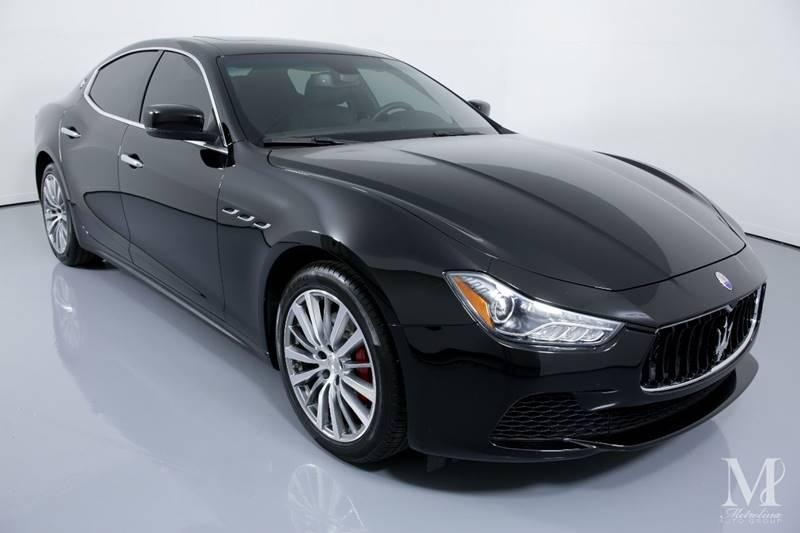 Used 2016 Maserati Ghibli Base 4dr Sedan for sale Sold at Metrolina Auto Group in Charlotte NC 28217 - 2