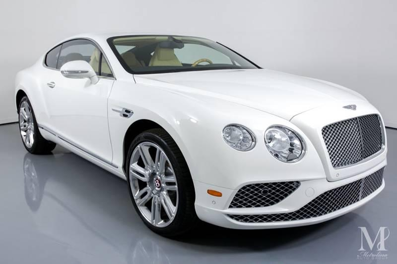 Used 2016 Bentley Continental GT V8 AWD 2dr Coupe for sale Sold at Metrolina Auto Group in Charlotte NC 28217 - 2