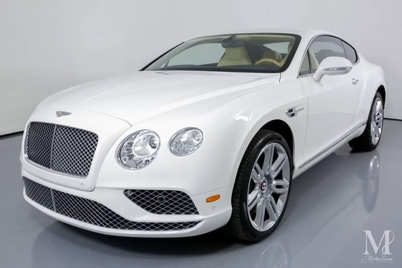 Used 2016 Bentley Continental GT V8 AWD 2dr Coupe for sale Sold at Metrolina Auto Group in Charlotte NC 28217 - 4