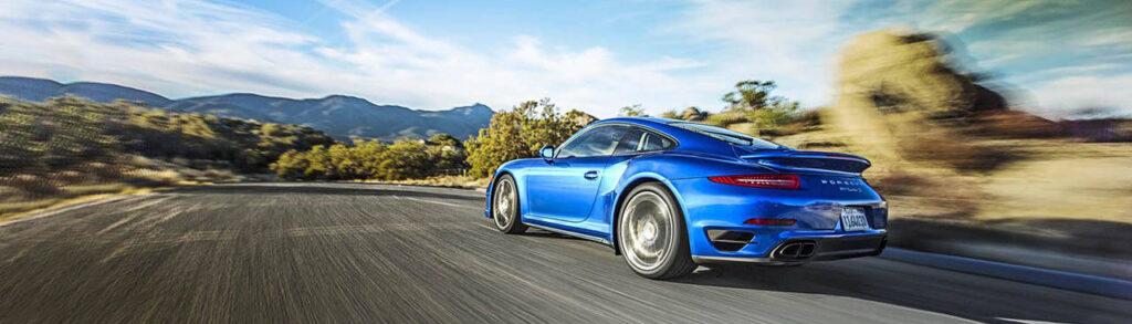 2014 Porsche 911 Turbo S Blue